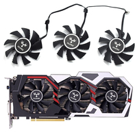 75mm iGame GTX 1060 6GB Cooler fan 4pin Replace for Colorful iGame GeForce GTX 1070Ti GTX 1080 GTX 1050 Video card
