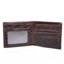 COWATHER 100% TOP cow genuine leather men wallet Crocodile embossed purse vintage designer male free shipping