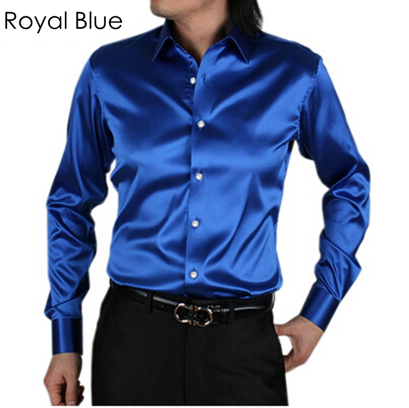 2015 men silk dress shirts groom tuxedos shirts dress