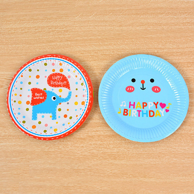 6pcs 18cm Cartoon Disposable Paper Plates Dish Party Decoration Cake Pan Children Kids Birthday Party Barbecue  sc 1 st  AliExpress.com & 6pcs 18cm Cartoon Disposable Paper Plates Dish Party Decoration Cake ...