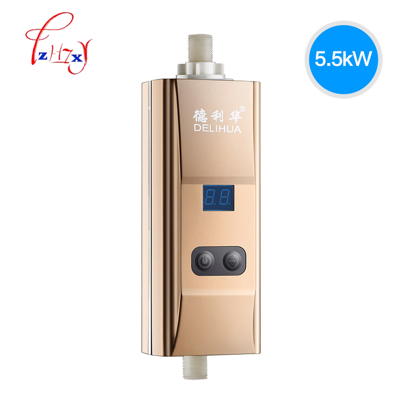 220V Home Use Instant Tankless Electric Water Heater Heating Faucet Shower Bath Heater Bottom Water Flow Inlet Water Heater 1pc