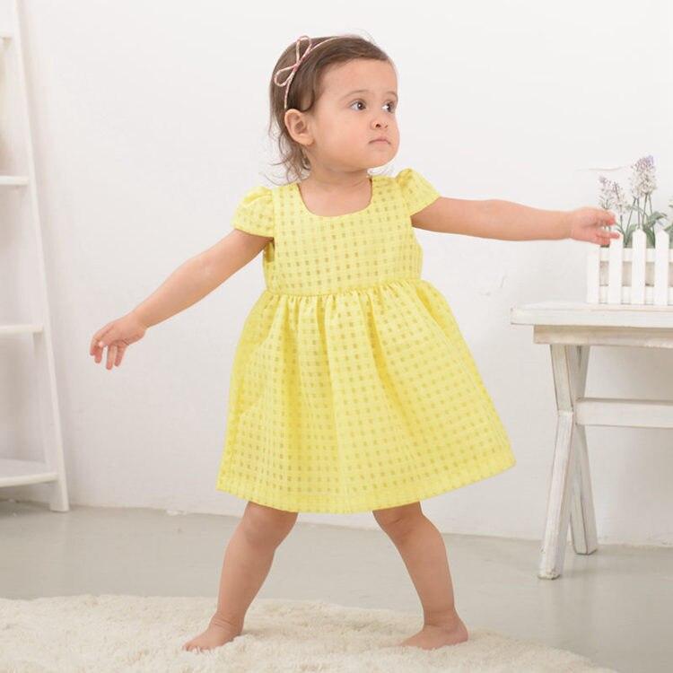 Nyári baba lány ruha, divat vékony hercegnő ruha, márka gyerek - Bébi ruházat - Fénykép 1