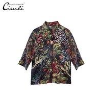100% шелк тутового шелкопряда Блузки/летние женские шелковые рубашки/повседневные атласные Блузки/большой размер женская одежда/воротник ст