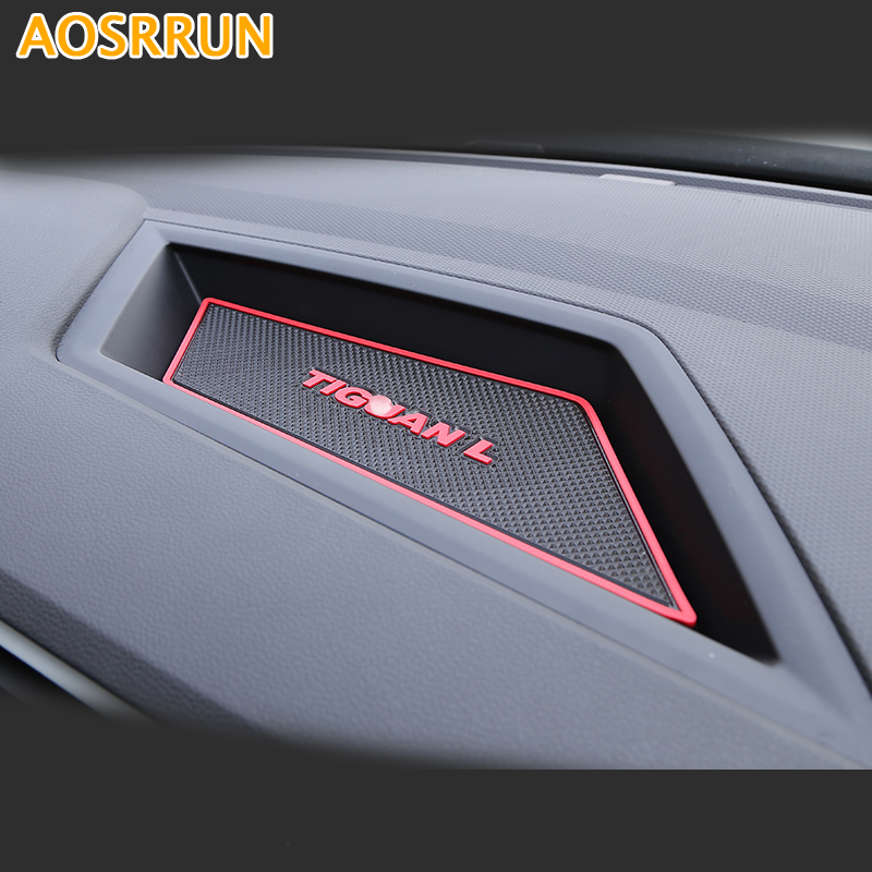 For Volkswagen VW Tiguan 2017 Car Accessories Dashboard storage box mat phone MaT car styling car rear trunk security shield cargo cover for volkswagen vw tiguan 2016 2017 2018 high qualit black beige auto accessories