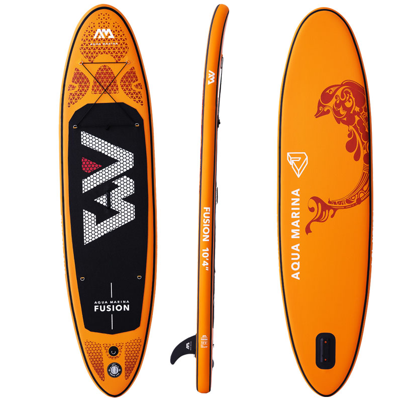 Image 2 - 315*75*15cm inflatable surfboard FUSION 2019 stand up paddle surfing board AQUA MARINA water sport sup board ISUP B01004-in Surfing from Sports & Entertainment