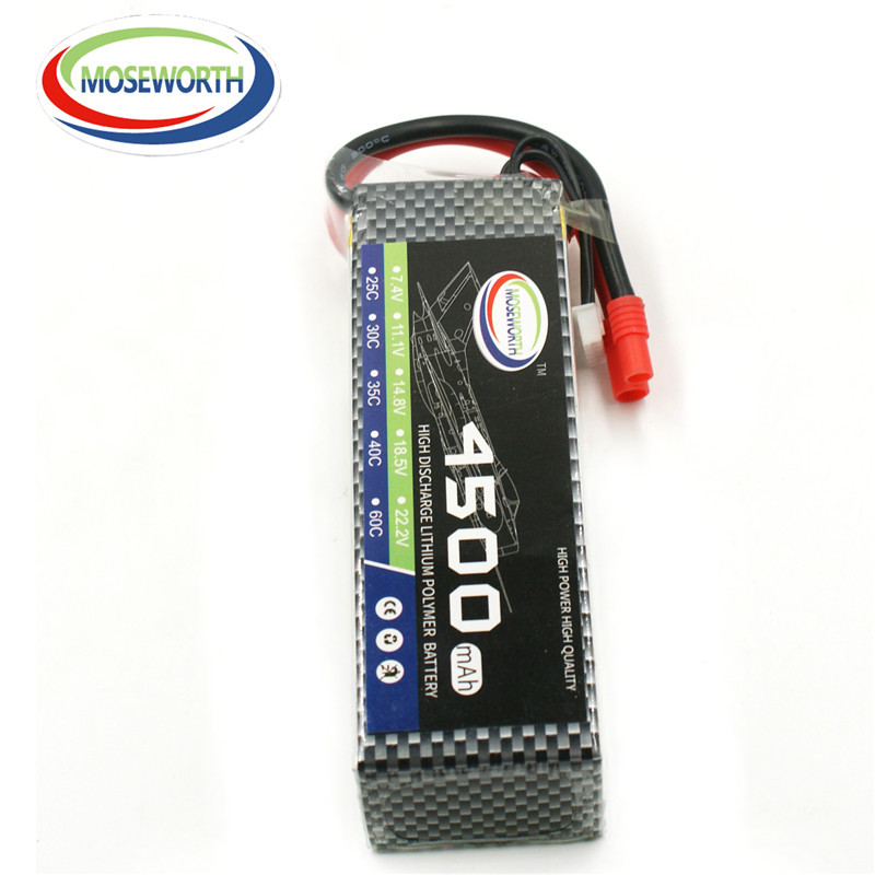 MOSEWORTH 4S RC Lipo Battery 14.8v 4500mAh 40C For RC Aircraft Quadcopter Boat Car Drones Airplane Helicopter Li-polymer AKKU 4S 5pcs lot 20cm 20cm rc battery fastening tape for li po battery of rc quadcopter rc aircraft rc boat wholesale