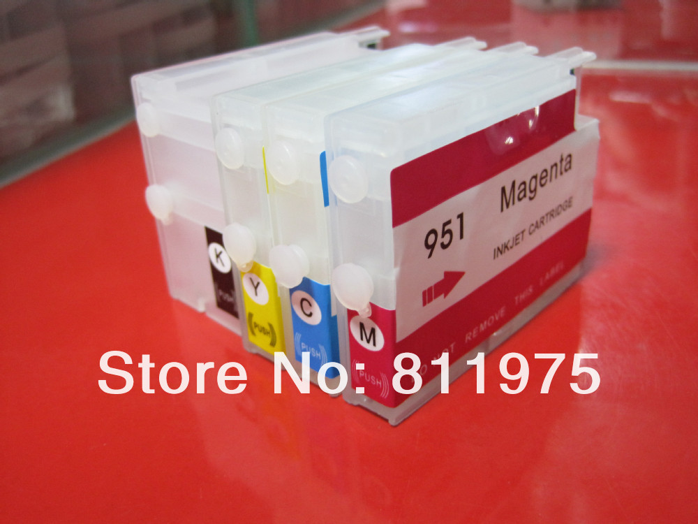 Free Shipping 950 951 950xl 951xl With Chip Empty Refillable Cartridge Compatible For Hp Officejet Pro