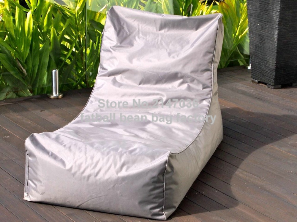 Light grey bean bag garden chair, outdoor patio hammock seat, living room beanbag sofa seats grey outdoor bean bag chair living room beanbag sofa seat furniture garden portable patio sofas