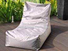 Light grey bean bag garden chair, outdoor patio hammock seat, living room beanbag sofa seats