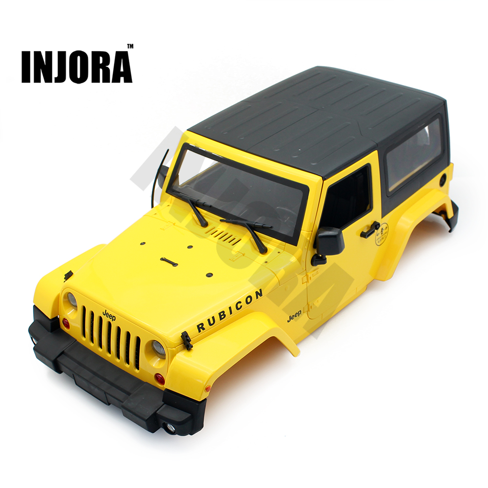 High Quality RC Rock Crawler 1:10 Jeep Wrangler Rubicon Car Shell for Axial SCX10 RC4WD D90 TAMIYA CC01 Hard Plastic Car Body rc car xtra speed 1 10 nylon angry eyes grill body for 1 10 scale models jeep wrangler body xs 59758 scx10 jeep climbing cars