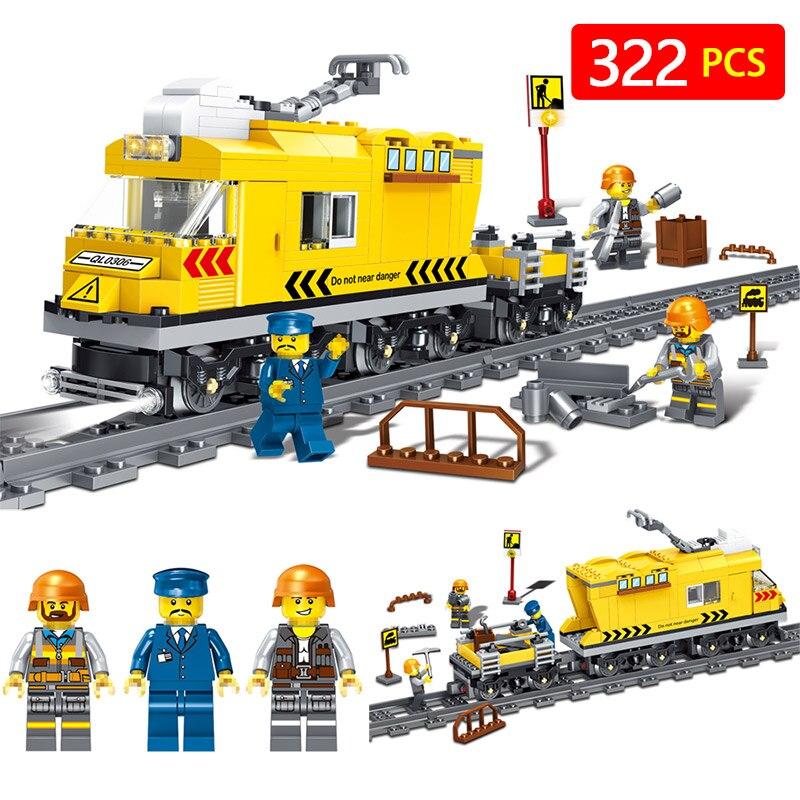 Galop Train Série Blocs de Construction Technique Compatible Avec LegoINGLYS Ville Vue Sur La Rue Chiffres TECHNICIEN Briques Cadeau D'anniversaire