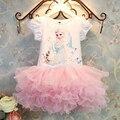 2016 горячая распродажа новые девушки детской одежды, Анна эльза платье девушка, Ребенок эльза костюм дети летний принцесса Vestidos Infantis платья