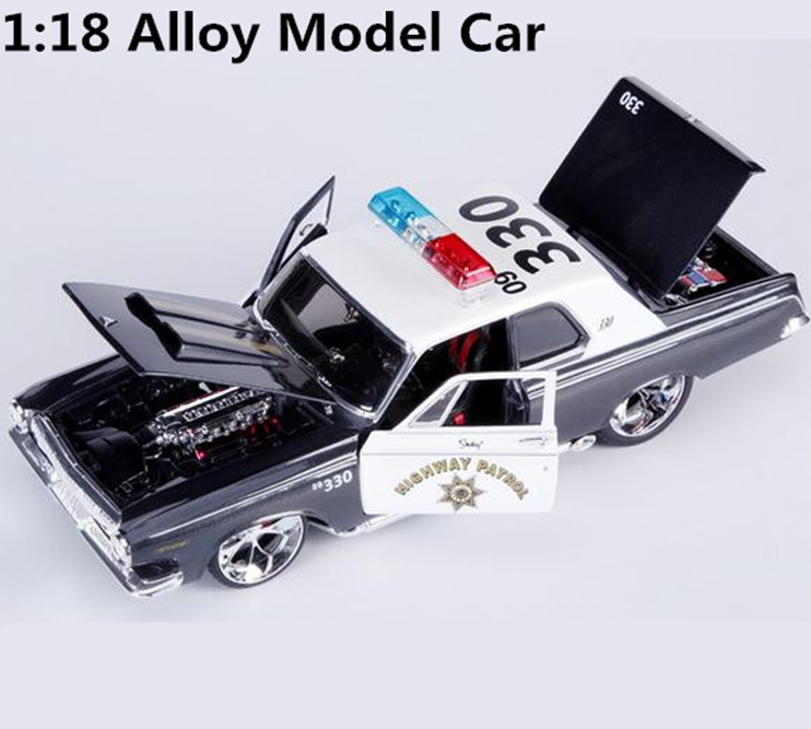 1: 18 Advanced alloy collection model car,High imitation 1963 Dodge 330 swat car,  metal castings 4open the doors, free shipping 1 18 otto renault espace ph 1 2000 1 car model reynolds