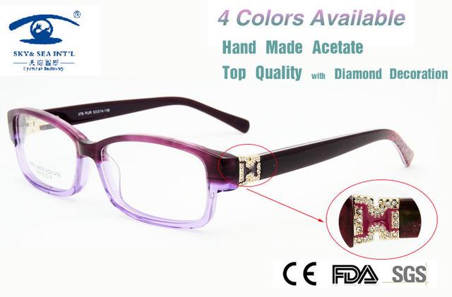 Alta Qualidade Mulheres Moda Itália Projeto Eyewear Computador Oculos De Grau óculos de Diamante Óculos De Armação Marca de Luxo Novo 2015