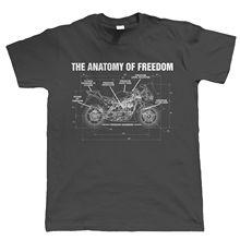 Heiße Neue 2019 Sommer Mode Anatomie von Freiheit Herren Biker T Shirt   Superbike Motorrad TT Geschenk für Ihn Dad t Shirt
