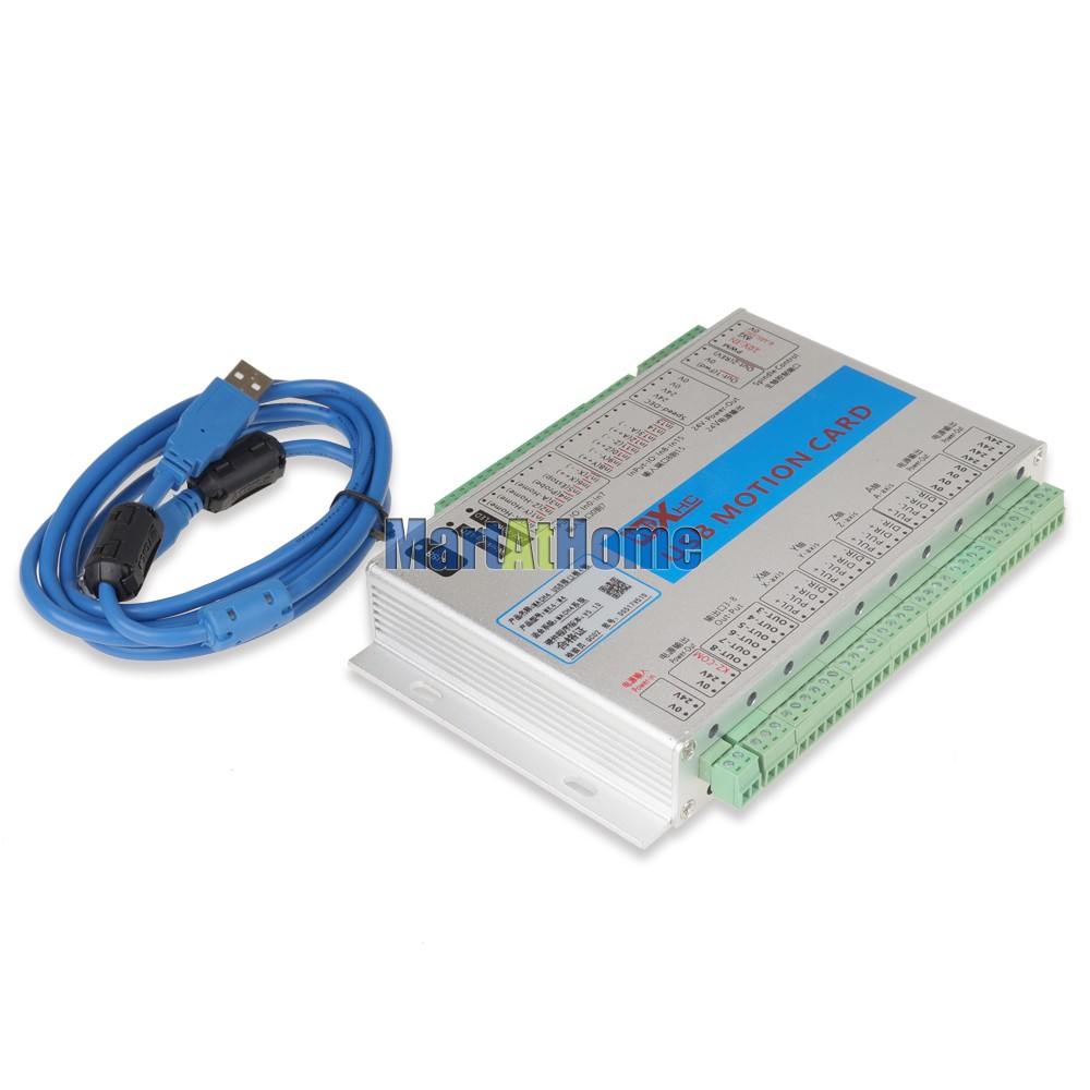 USB 2MHz Mach4 CNC 4 Axis Motion Control Card Breakout Board MK4 M4 for Lathes Machine Centre CNC Engraving Machine SM781 SD in Motor Controller from Home Improvement