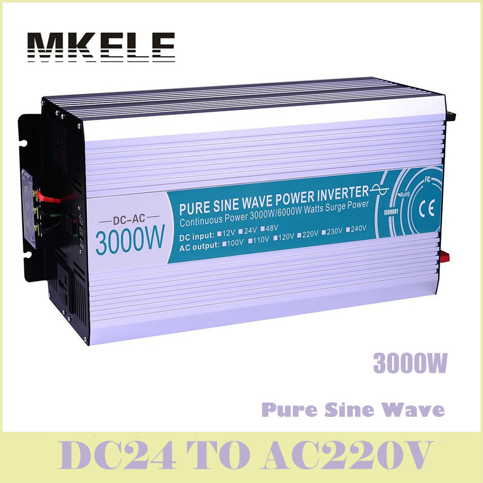 цена на MKP3000-242 Dc-Ac  Solar Inverter 3000w 24v To 220v Power Pure Sine Wave Voltage Converter LED Digital Display China