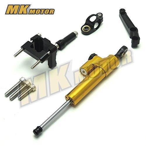 цены  Sale Aluminium Steering Stabilizer Damper Mounting Bracket For Kawasaki Ninja 250 300 EX250 EX300 ZX250R ZX300R 2008 2009 -2012