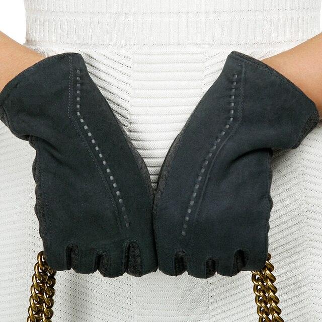 REALBY Women Thicker Gloves Winter Luvas de inverno Guantes Mujer Formal Gloves Suede Mittens Elegant Warmer&Soft Gants Femme 1