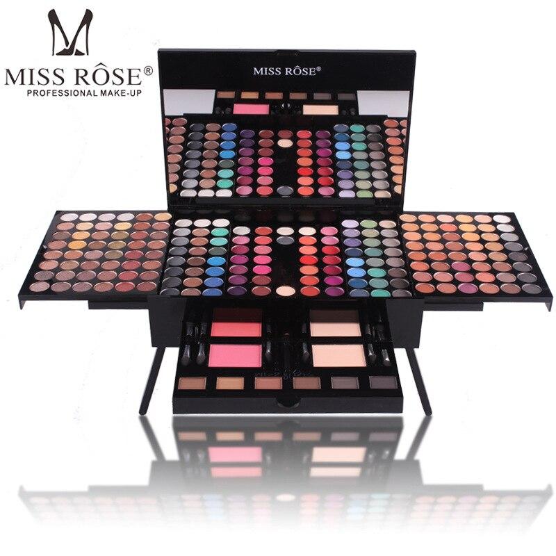 ᗔMarca MISS Rose maquillaje set de 180 colores mate shimmer sombra ...