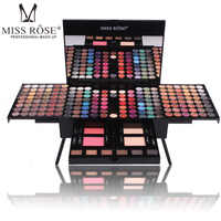 eyeshadow sets shadow case makeup set of 180 colors matte shimmer eye shadow pressed Blush 6 color bronzer Piano box shaped 1pcs
