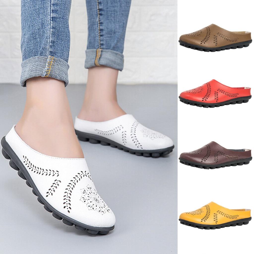 Женские кожаные туфли лодочки на низком каблуке дышащие прогулочные с мягкой