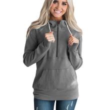 punk fashion new Europe and america womens hoodies pullovers zipper solid turtleneck long coat sweatshirt clothing XL