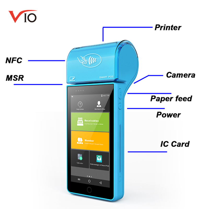 US $249 0 |PDA POS Terminal With MSR / IC / NFC Reader Restaurant Payment  System Handheld Android Portable SDK-in Scanners from Computer & Office on