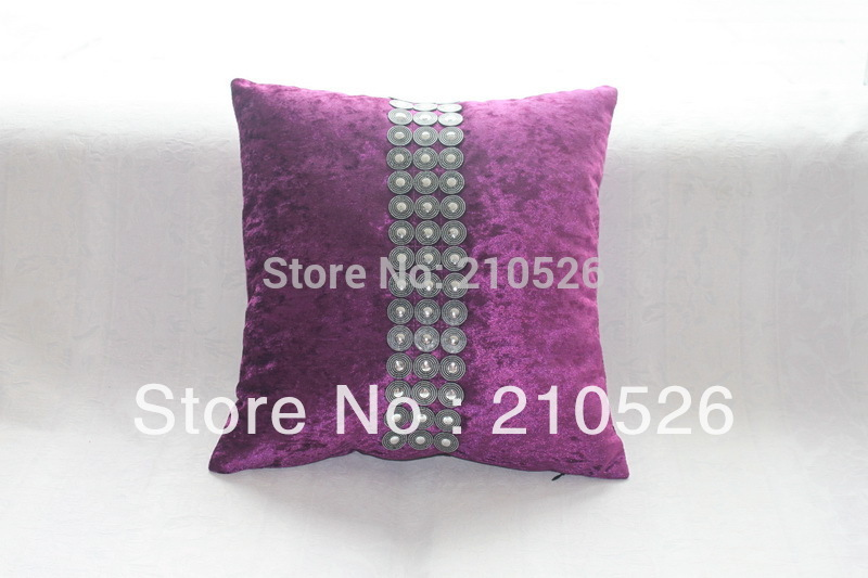 luxury home decoration velvet antique bead Sofa throw Cushion Pillow 45*45cm or 30*50cm with filling
