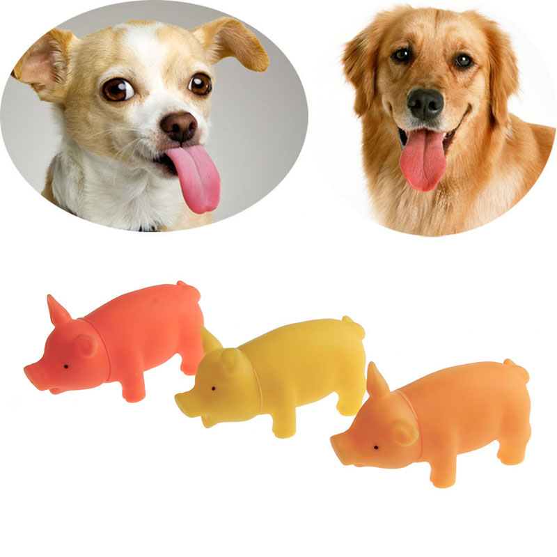 Dog Toys Puppy Sound Pig Teething Chew Squeaker Squeaky Rubber Toys Supplies
