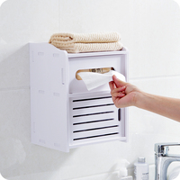 European style DIY three layer walled towel box storage box for cosmetic bath towel tissue Remote Control Phone Holder