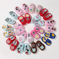 Retail! Cartoon Toddlers Baby Girls Shoes flower print new born baby cute cack first walkers Soft Sole Shoe baby bebe shoes