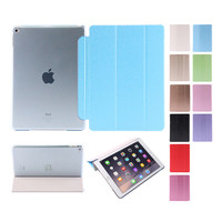 2015 New Smart Cover For Ipad Air 2 Case Ultra Thin Flip Silk Pattern Leather Stand