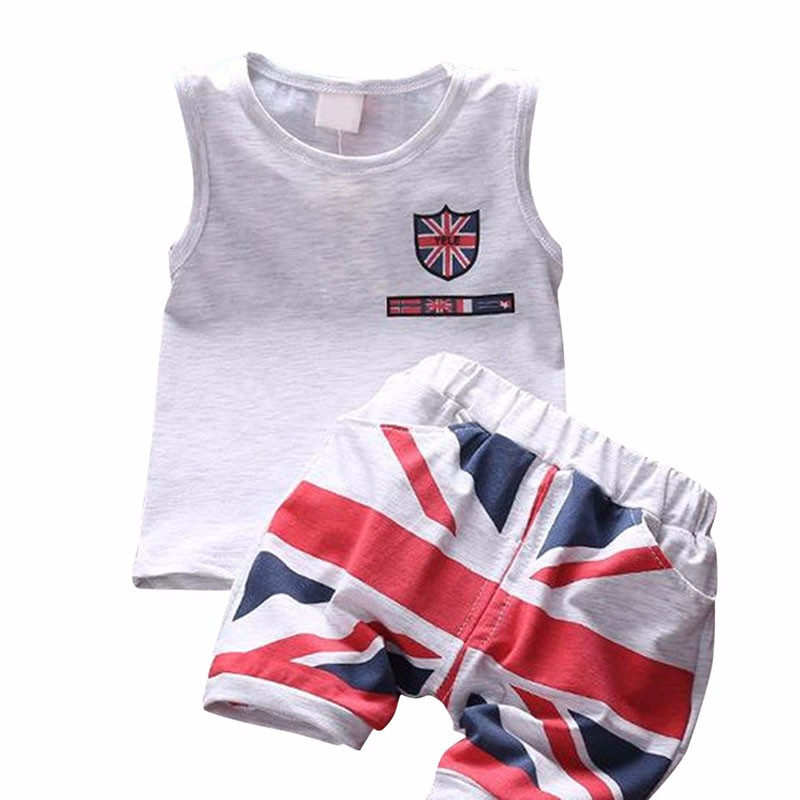 Mode D'été Bébé Garçons Vêtements Ensembles Roupas Infantile 3