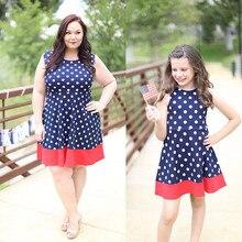 Mother and Daughter Polkadot Sleeveless Dress