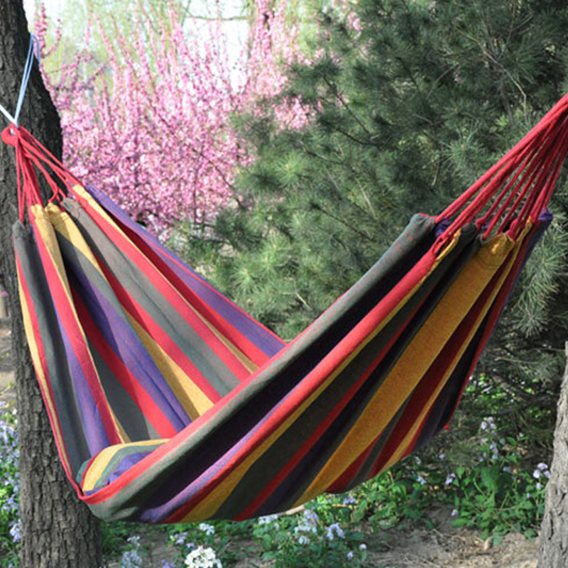 280X150cm Outdoor leisure camping hammock Garden Swing portable inflatable hunting hamac
