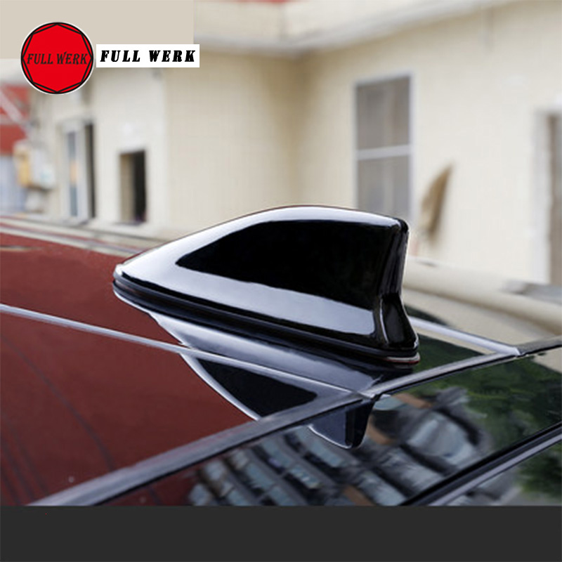 1pc ABS Car Roof Shark Fin Antenna Sticker Signal Aerial Roof Antenna for Tesla Model X 2016 2017 2018 Exterior Accessories