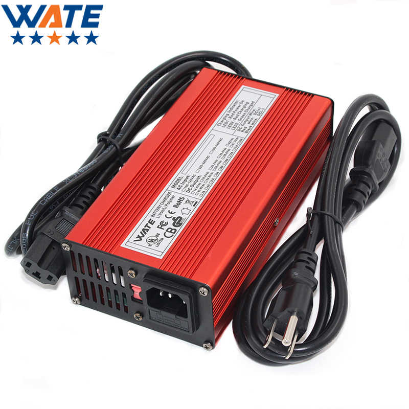84V 3A Charger 72V Li-ion Battery Smart Charger Used for 20S 72V Li-ion Battery High Power With Fan Red Aluminum Case yangtze li ion charger 84v 5a 4a 3a for 72v car lithium battery chargeur batterie voiture intelligent li ion polymer ebike