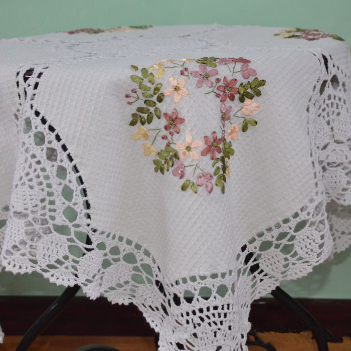 S v countryside ribbon embroidery tablecloths crochet hook