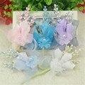 1 unids/lote Seda Ramillete de Novia Dama de Honor Ramo De La Boda Artificial Flor en el ojal o Traje Casado Accesorios de Decoración