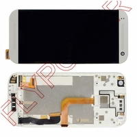 For HTC One Mini 2 M8 Mini LCD Screen Display Touch Screen Digitizer Completed Assembly Frame