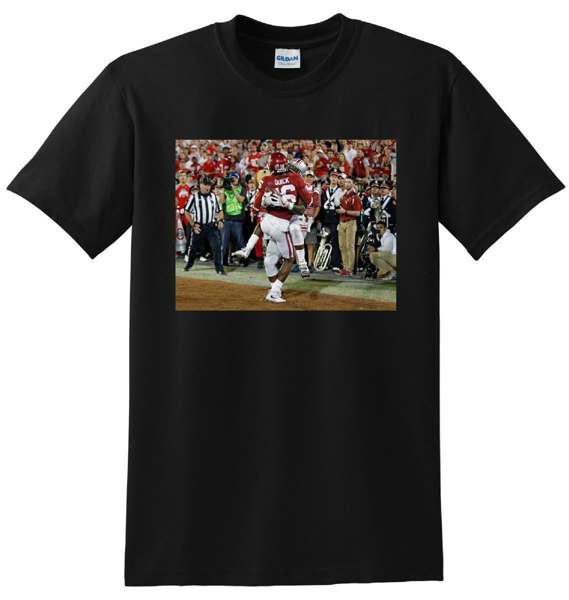 NOAH BROWN T SHIRT Ohio State Footballer Catch Photo Tee New 2018 Summer Style T-Shirt 100% Cotton Straight O-Neck Short Sleeve image