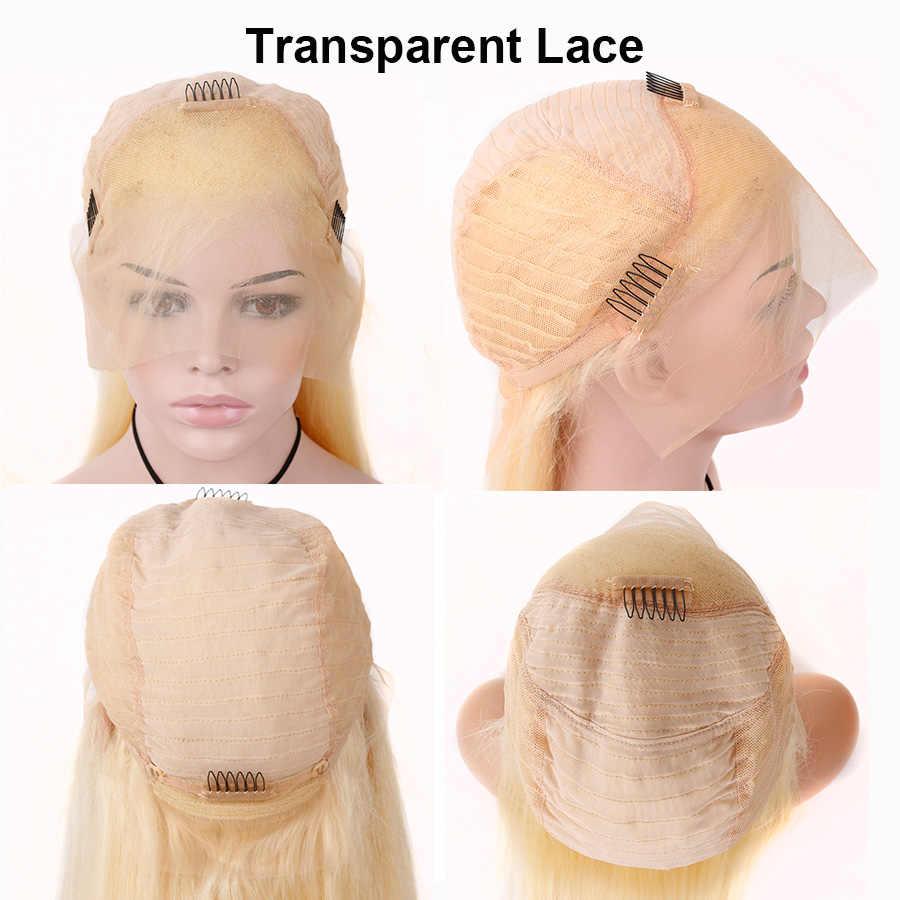 613 miód blondynka koronkowa peruka na przód peruwiański ciało koronkowa fala peruka Front Remy 13*4 Glueless przezroczysty 613 koronki przodu włosów ludzkich peruk