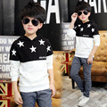 Cabritos de La Manga larga Camisetas Sudaderas Ropa Para Niños Suéter Patrón de la Ropa Estrellas Camisas de Los Muchachos Adolescentes Primavera Otoño Niños Tops