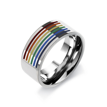Lesbian Gay Pride Ring Stainless Steel