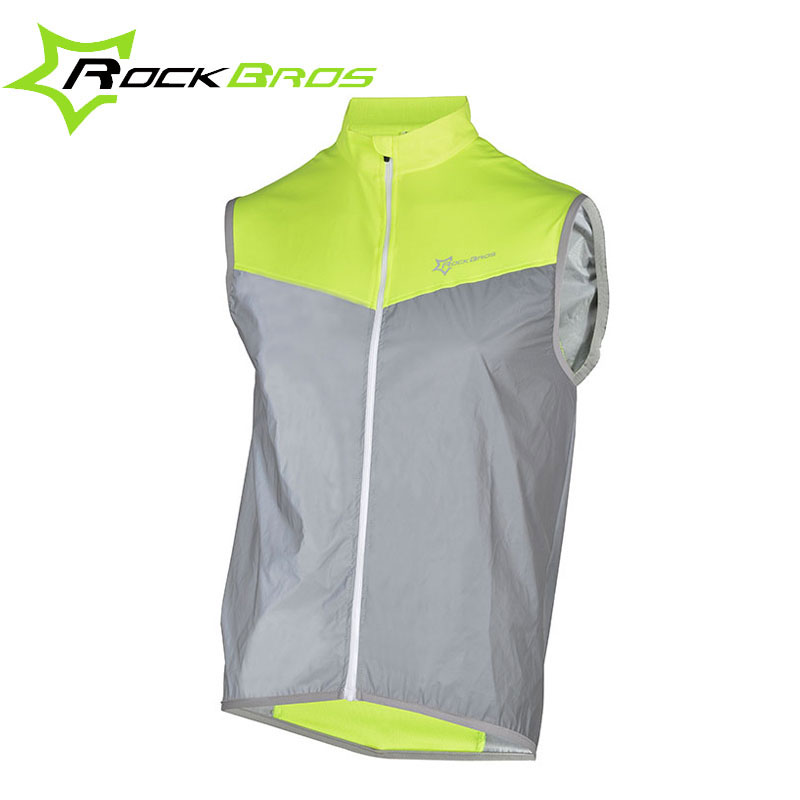 ROCKBROS Sportswear Jersey Reflective-Cycling-Jersey Bicycle-Jacket Bike Breathable Sleeveless
