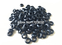 300pcs 10mm X 16mm Black Rubber Wiring Grommets Ring Cable Protector