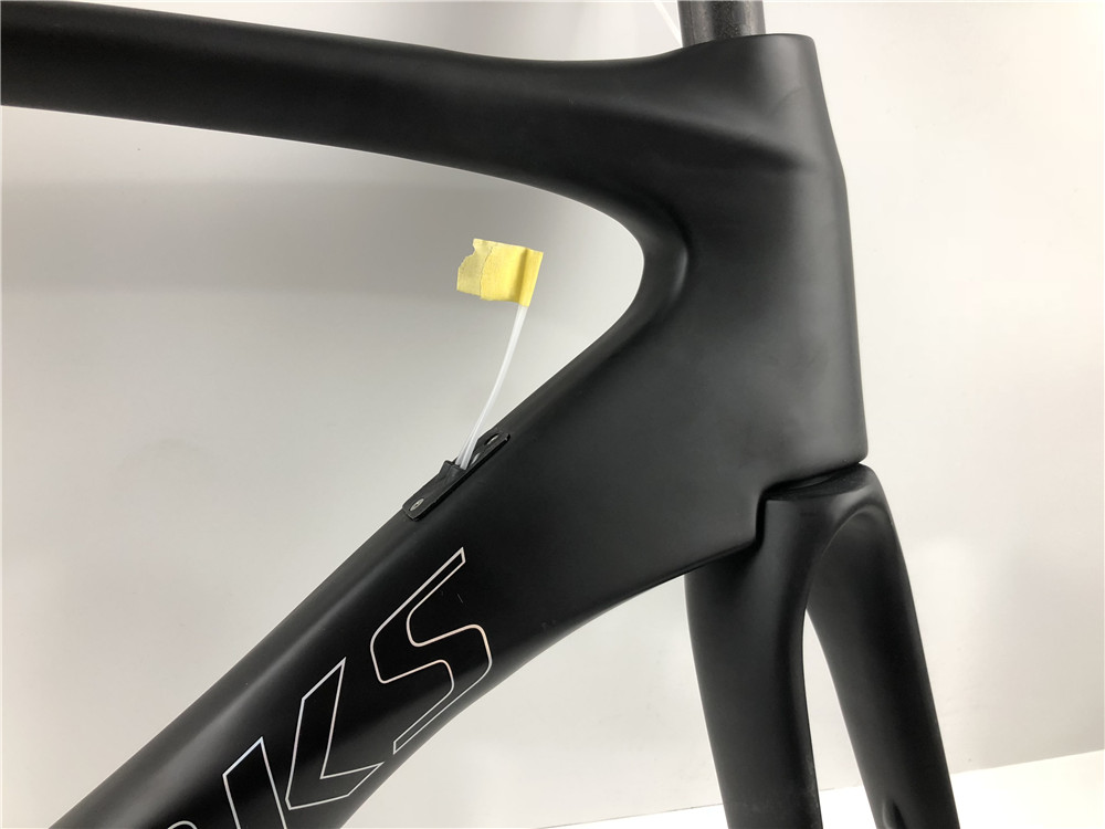 2019 New coated carbon disc brakes road frame 44cm/49cm/52cm/54cm/56cm/58cm Thru axle disc brake version Bottom bracket BB386(China)