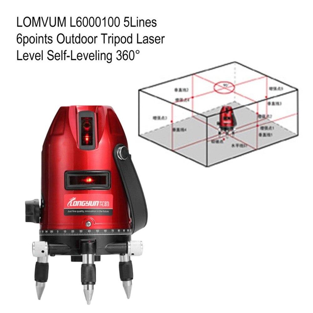 LOMVUM 2/3/5Lines Nivel a Laser Level 360 Autonivelante Construction Tools 5 Lines Niveau Laser Rotatif 360 Laser Nivellement