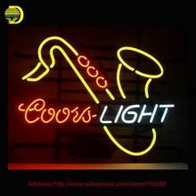 Coors Light Saxhorn Néon Signe Néon Ampoule Chambre Loisirs Verre Tube Artisanat personnalisé signe d'affaires Lumière Ampoule Magasin Affichage 17×14